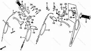 Honda Motorcycle 1979 Oem Parts Diagram For Handle Lever    Switch    Cable