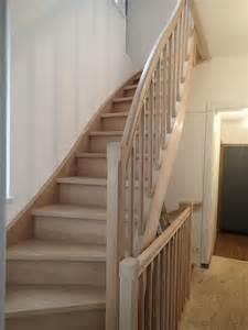 Escalier Hetre 2 4 Tournant by Escaliers En H 234 Tre Nicolas Dupriez Escaliers Bois