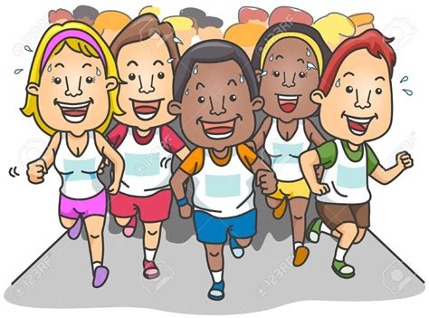 Cartoon People Running