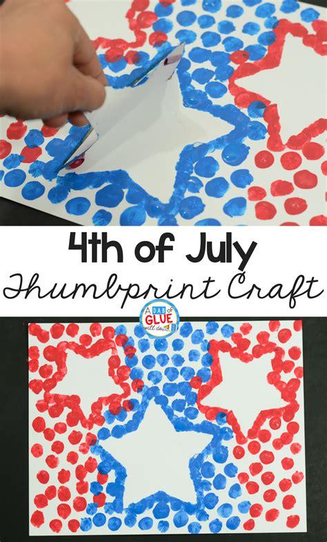 4th of july patriotic thumbprint craft 774 | 4th of July Stars Thumbprint Craft Pinterest