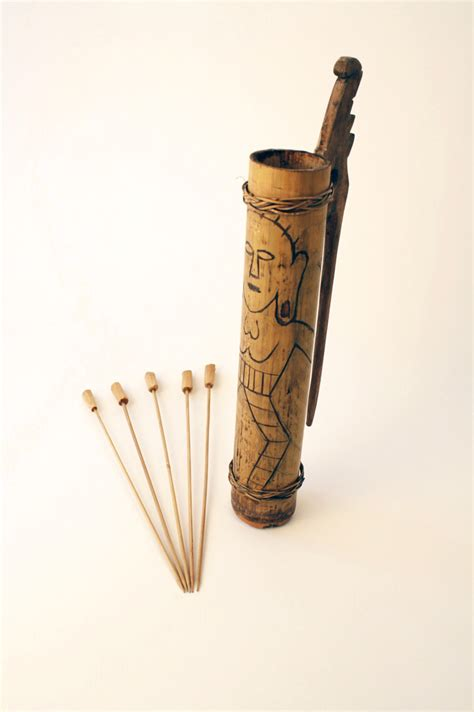Bamboo Container & Blowgun Darts, Malaysia | Object ...