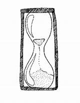 Hourglass Coloring Template Pages Printable Templates sketch template