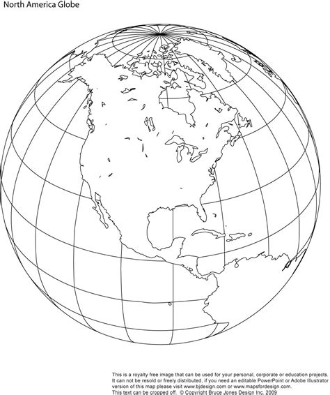 north america printable globe perfect   school