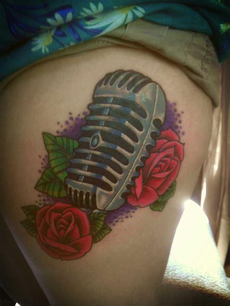 amazing mic tattoo  tattoo design ideas