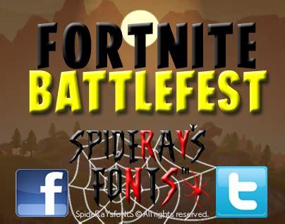 fortnite battlefest windows font   personal