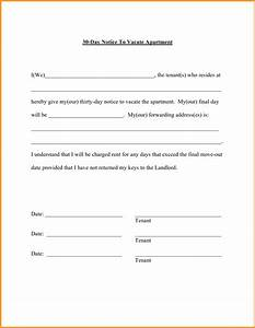 60 day notice to vacate letter format mail With 60 day notice apartment template