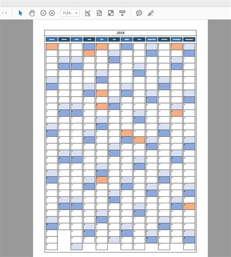 Calendrier 2018 Excel modifiable et gratuit ExcelMalincom