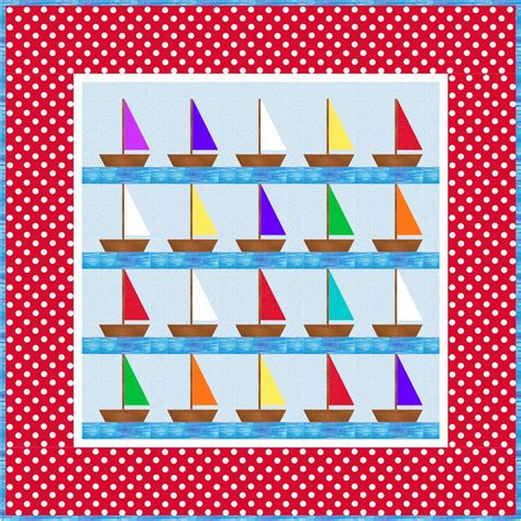 Sailboat Quilt by Northern Deb Quilts Free Little Boys Sailboat Pattern