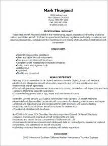aircraft engine mechanic resume sles professional aircraft mechanic resume templates to showcase your talent myperfectresume