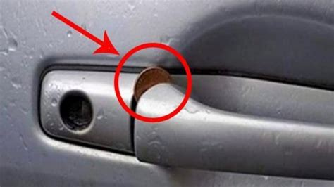 Anyone Who Finds A Coin Jammed In Their Car Door Handle