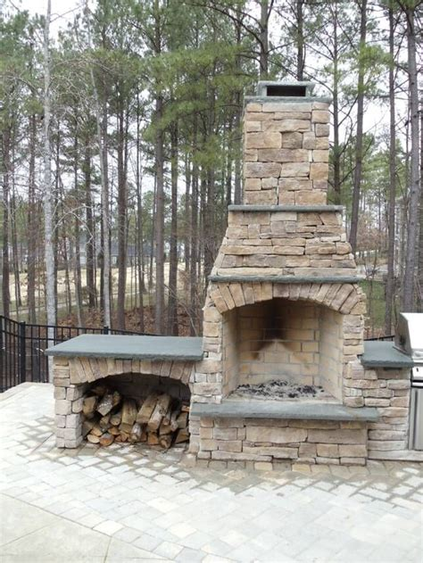 Wood Burning Outdoor Fireplace Plans