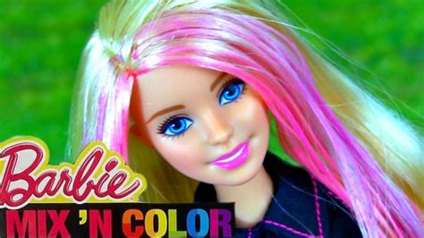 Barbie Mix 'n Color Doll! How To Color Barbie Hair! Fun