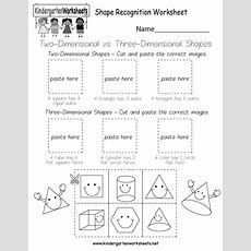 Shape Recognition Worksheet  Free Kindergarten Geometry Worksheet For Kids