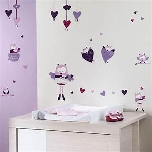 stickers muraux mam39zelle bou 20 sur allobebe With déco chambre bébé pas cher avec fleurs livres a domicile