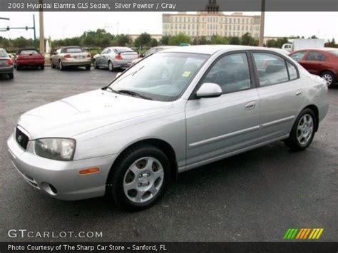 Hyundai Elantra Gls 2003 by Silver Pewter 2003 Hyundai Elantra Gls Sedan Gray