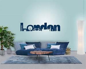 Wanddeko Ideen Wohnzimmer : wanddeko london skyline modern originell zeitlos ~ Markanthonyermac.com Haus und Dekorationen