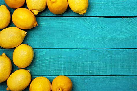 Lemon Background, Lemon, Board, Blue Background Image for