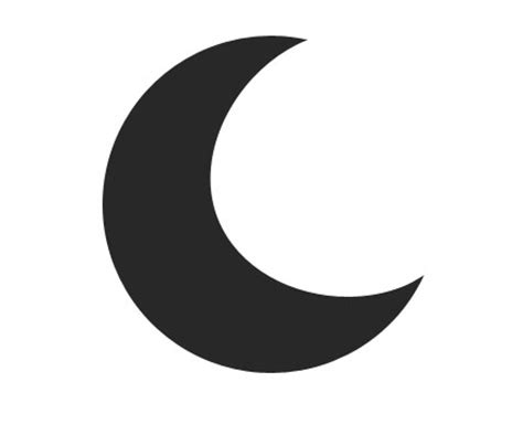 crescent moon icon in messages what does it macreports crescent moon symbol clipart best