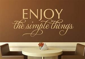 Enjoy the simple things wall decal stylish vinyl decor