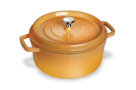 le creuset aubergine staub oven 5 5 quart saffron cutleryandmore 3690