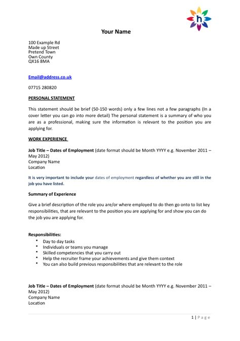Cv Cover Letter Template by Cv Cover Letter Hhrma Career Bali