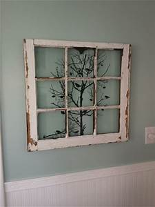 smart diy old windows recycling projects With what kind of paint to use on kitchen cabinets for birch tree canvas wall art