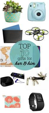 top 10 gifts for and him