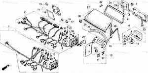 Honda Motorcycle 1987 Oem Parts Diagram For Fairing Wire Harness