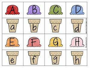 summer ice cream alphabet match free printable reading With letter matching games