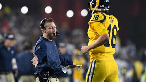 flipboard sean mcvay addresses jared goffs future  rams