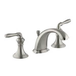 brushed bronze kitchen faucets kohler k 394 4 devonshire widespread bathroom faucet