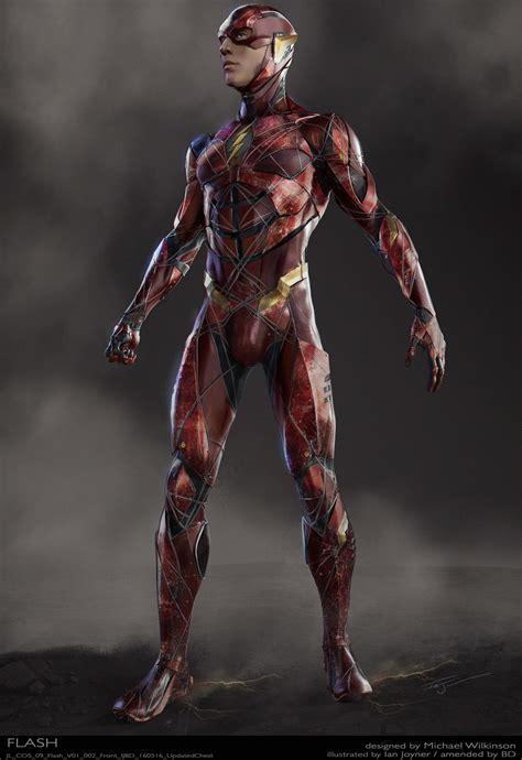justice league ezra miller  flash concept art cosmic