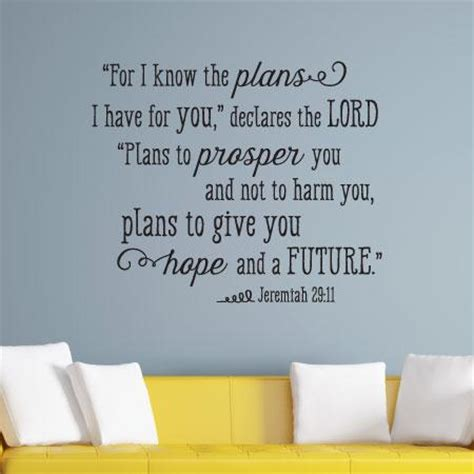 i know the plans i have for you wall quotes� decal