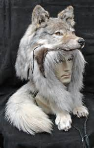 Real Wolf Head Hat