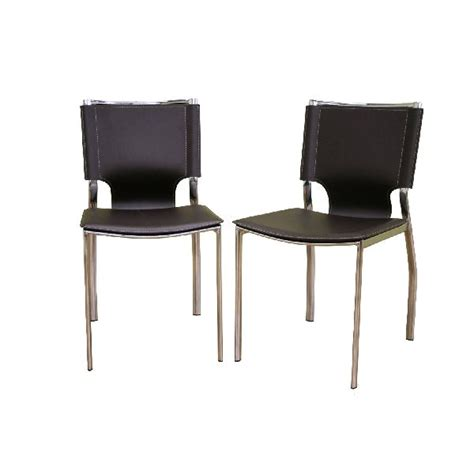 black leather and chrome dining chairs cosmopolitan