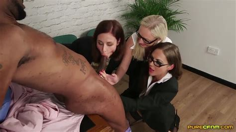Cfnm Interracial Group Sex At The Office With Horny