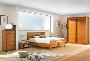 deco chambre meuble merisier exemples d39amenagements With deco cuisine pour meuble merisier