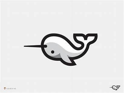 Narwhal Dribbble Whale Symbol Tattoo