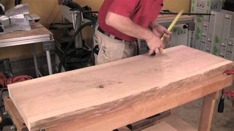 build  slab topped sofa table  loose tenon joinery
