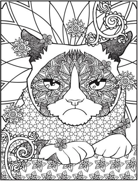freebie grumpy cat coloring page stamping