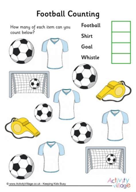 football worksheets 654 | football counting 3 460