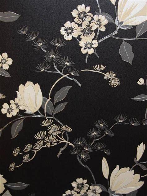 floral oriental design  love   black background