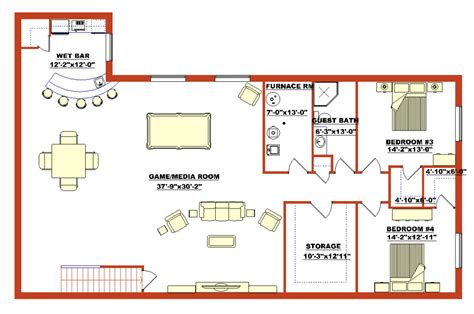 basement design layouts lovely basement blueprints finished walk out basement