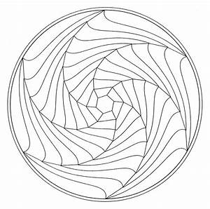 Mandala optical illusion | Mandalas - Coloring pages for ...