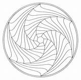 Coloring Tunnel Illusion Designlooter Customize Geometric sketch template