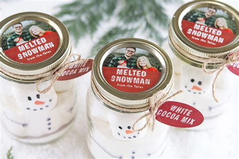 diy holiday gift melted snowman party inspiration