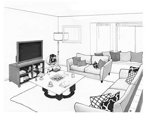 flako render drawing  andres living room