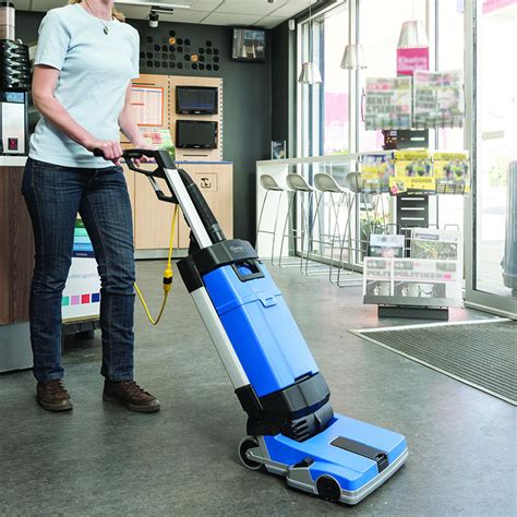 tile floor scrubbers residential ma10 12ec upright auto scrubber w carpet cleaning tools
