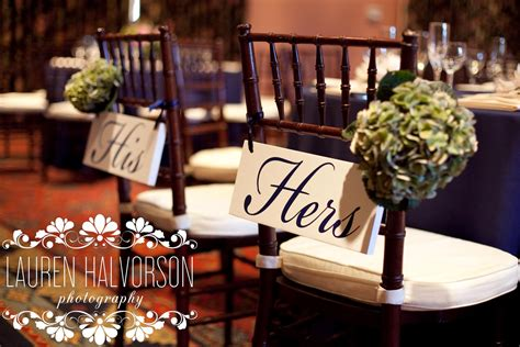 his and hers wedding reception signs onewed