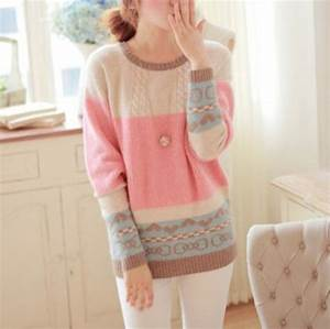 Sweater cute pastel aztec top blouse fall outfits fashion kawaii girly clothes ...